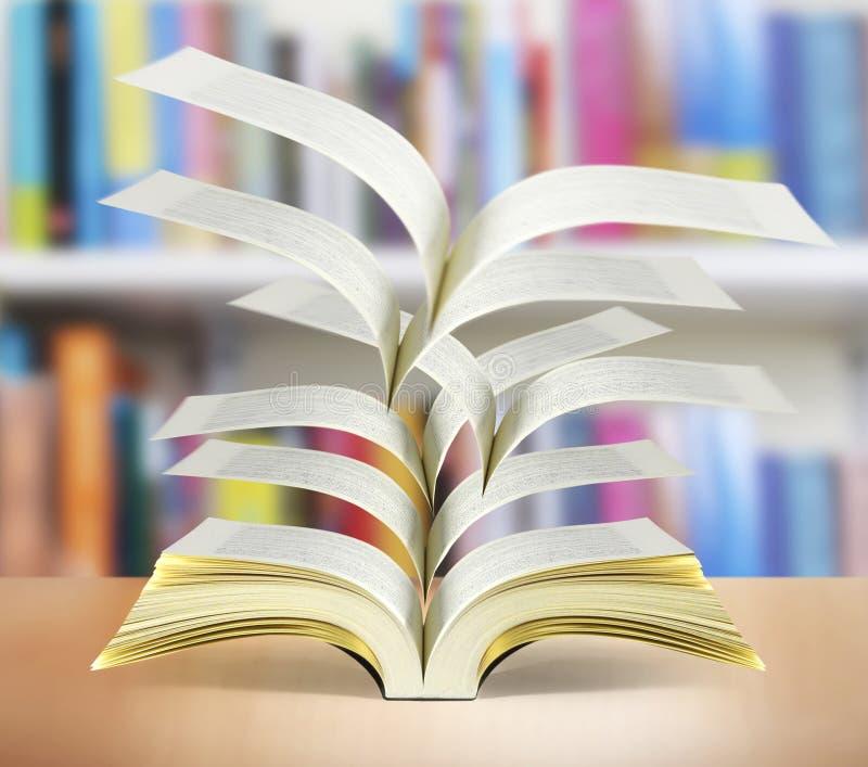 öppen bokmagi stock illustrationer