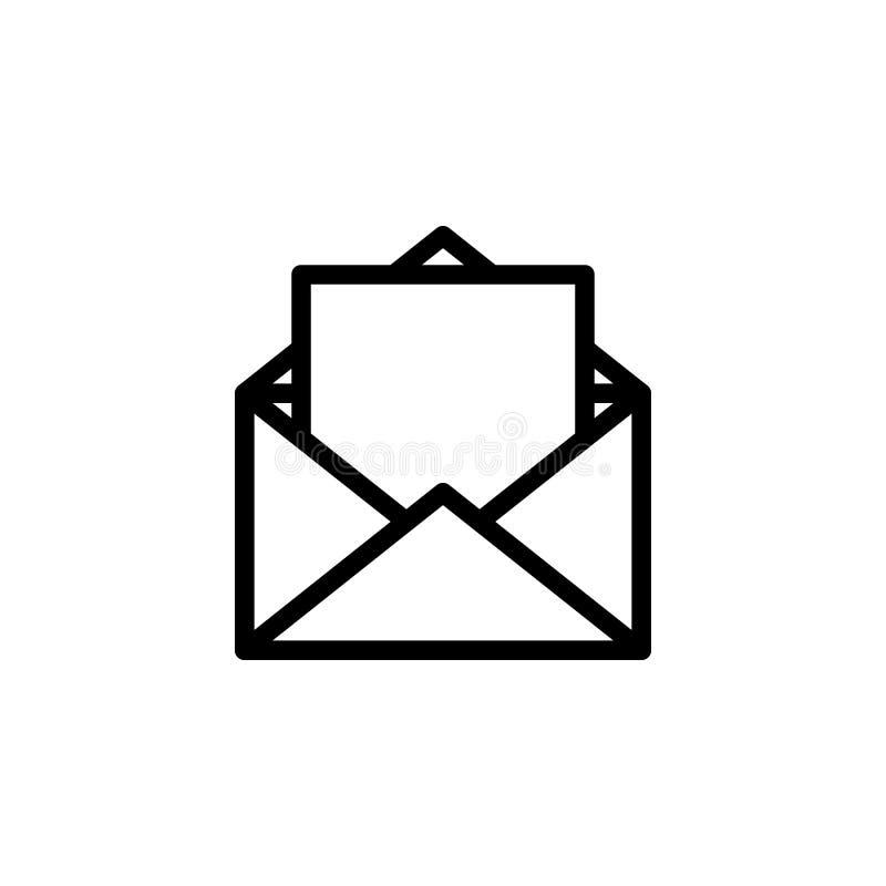 öppen bokstav Linje symbol också vektor för coreldrawillustration EPS10 royaltyfri illustrationer