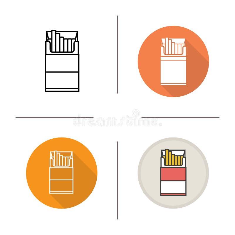 Öppen cigarettpackesymbol vektor illustrationer