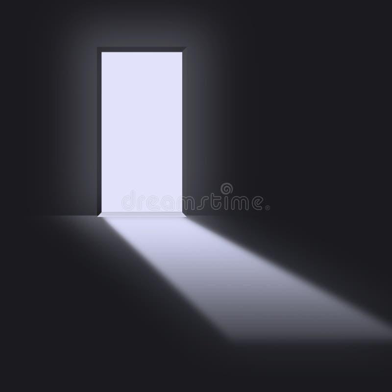 öppen dörröppning vektor illustrationer