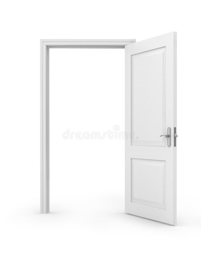 Öppen dörr över stock illustrationer