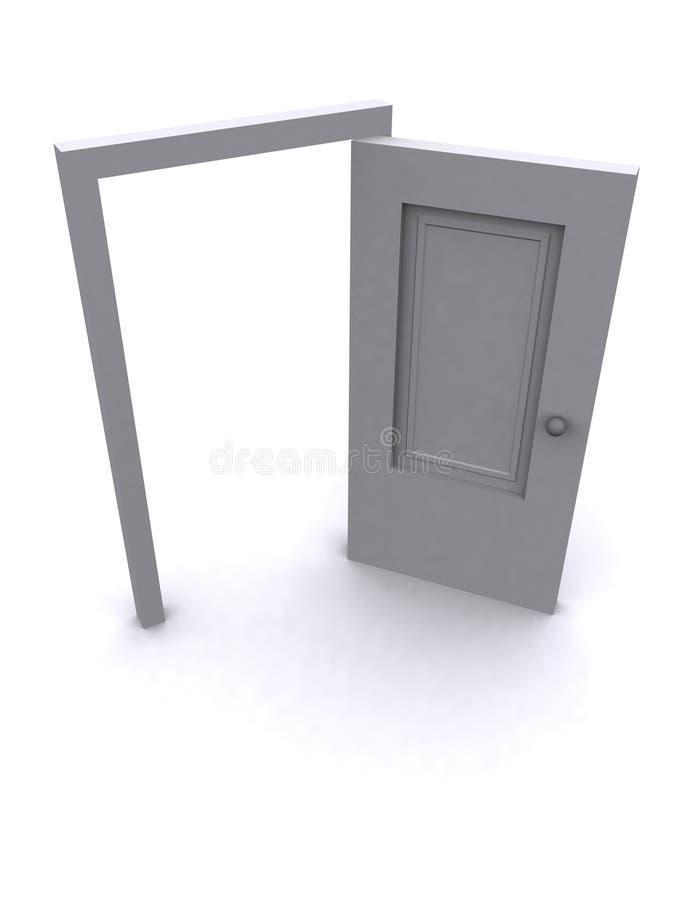 öppen dörr 3d royaltyfri illustrationer