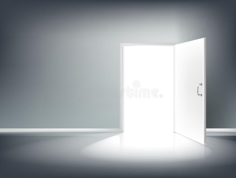 öppen dörr vektor illustrationer