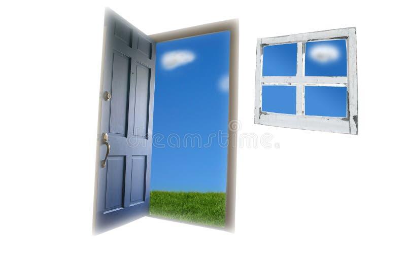 öppen dörr royaltyfri bild