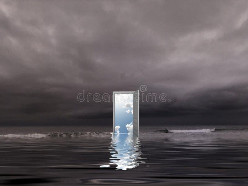 öppen dörr fotografering för bildbyråer