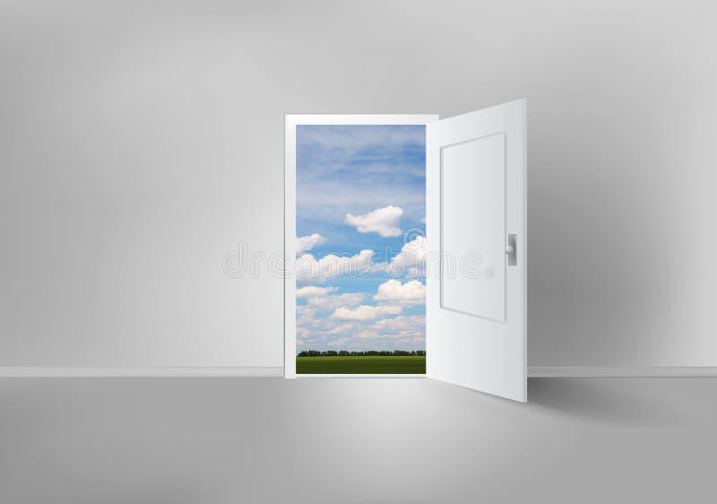 Öppen dörr till överallt royaltyfri illustrationer