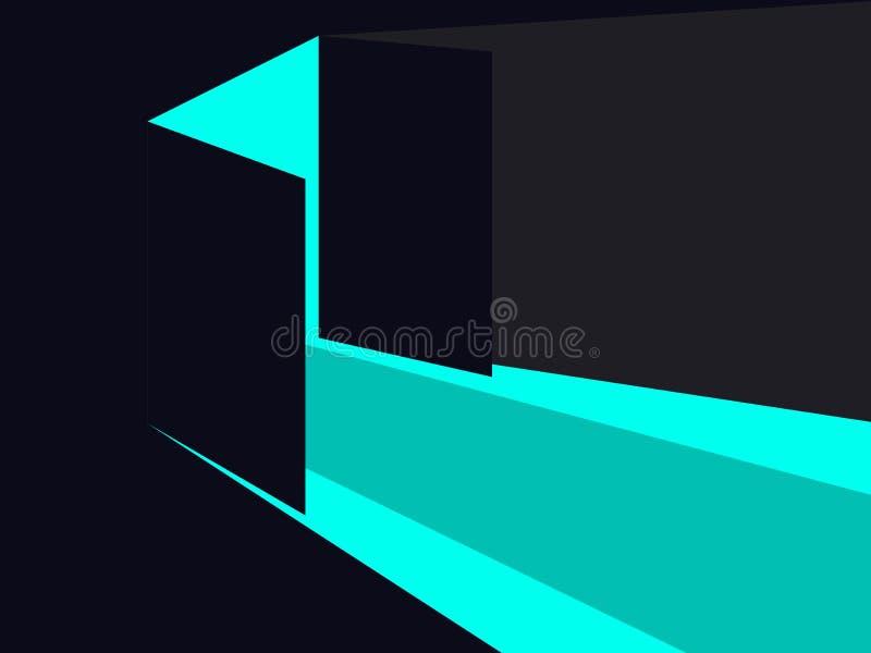 öppen dörrlampa blåa lampor En öppen dubbel dörr vektor vektor illustrationer