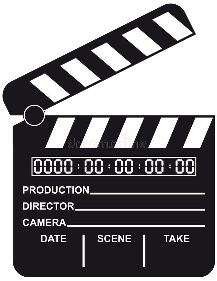 öppen digital film för clapboard royaltyfri illustrationer