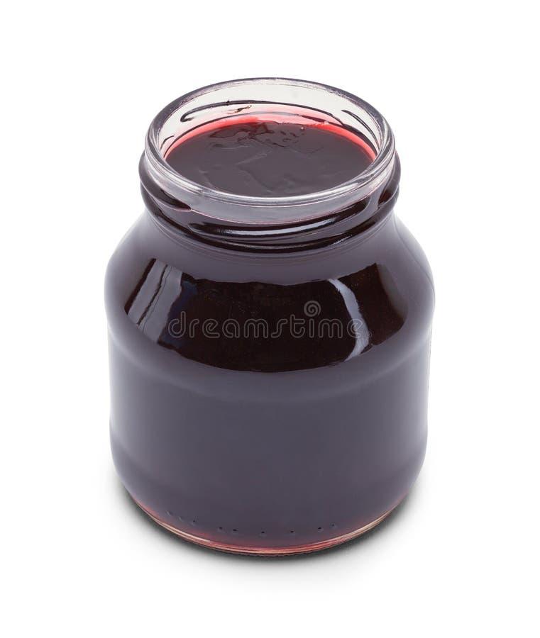 Öppen druva Jelly Jar arkivfoto
