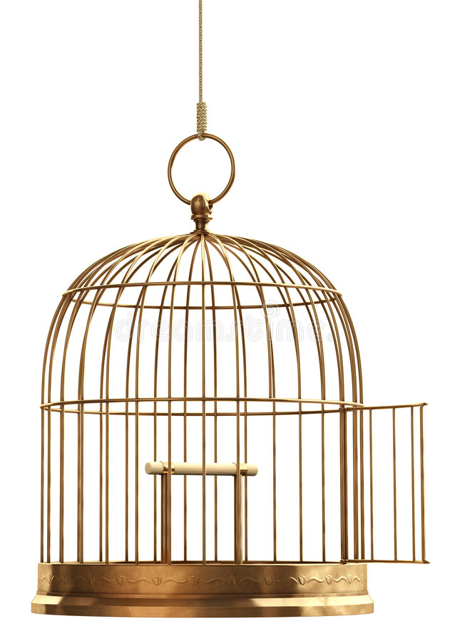 öppen fågelbur