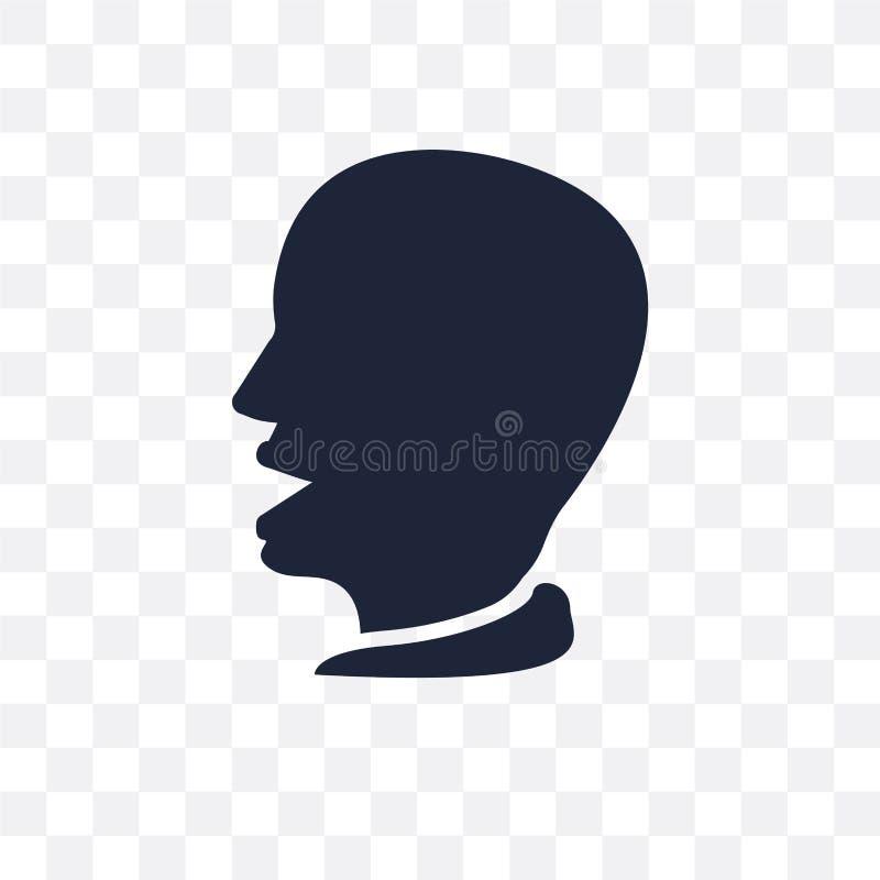 Öppen genomskinlig symbol för mun Öppen symboldesign för mun från mänskligt royaltyfri illustrationer