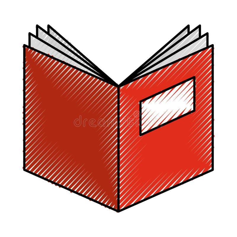 Öppen isolerad symbol för textbok vektor illustrationer