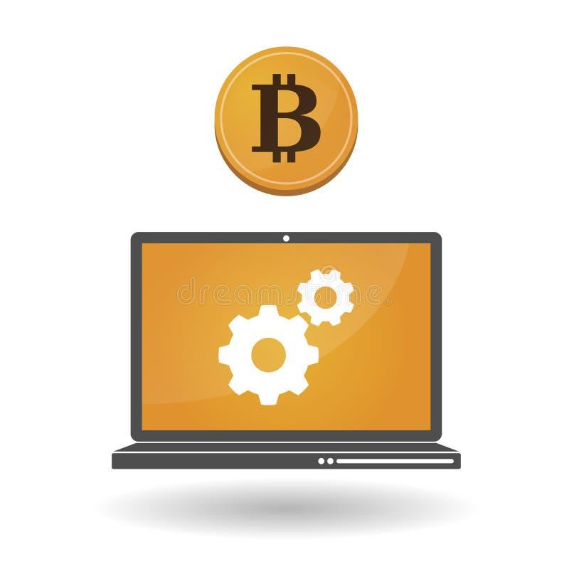 Öppen-källa pengar Bitcoin vektor illustrationer