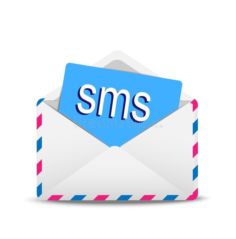 Download Öppen kuvertluft med text stock illustrationer. Illustration av rapport - 37345194