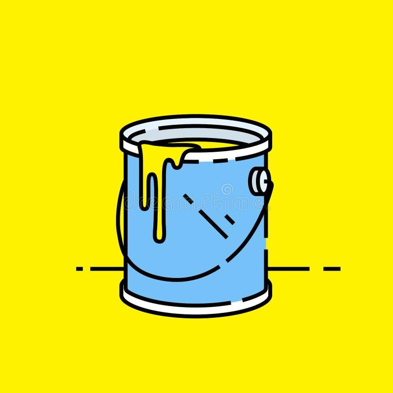 Öppen målarfärg kan symbolen stock illustrationer