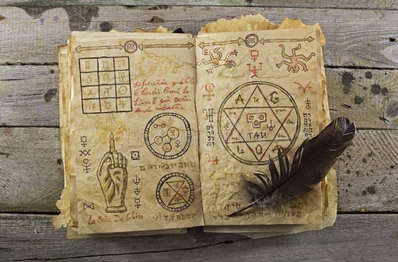 Öppen magisk bok 1 royaltyfria bilder