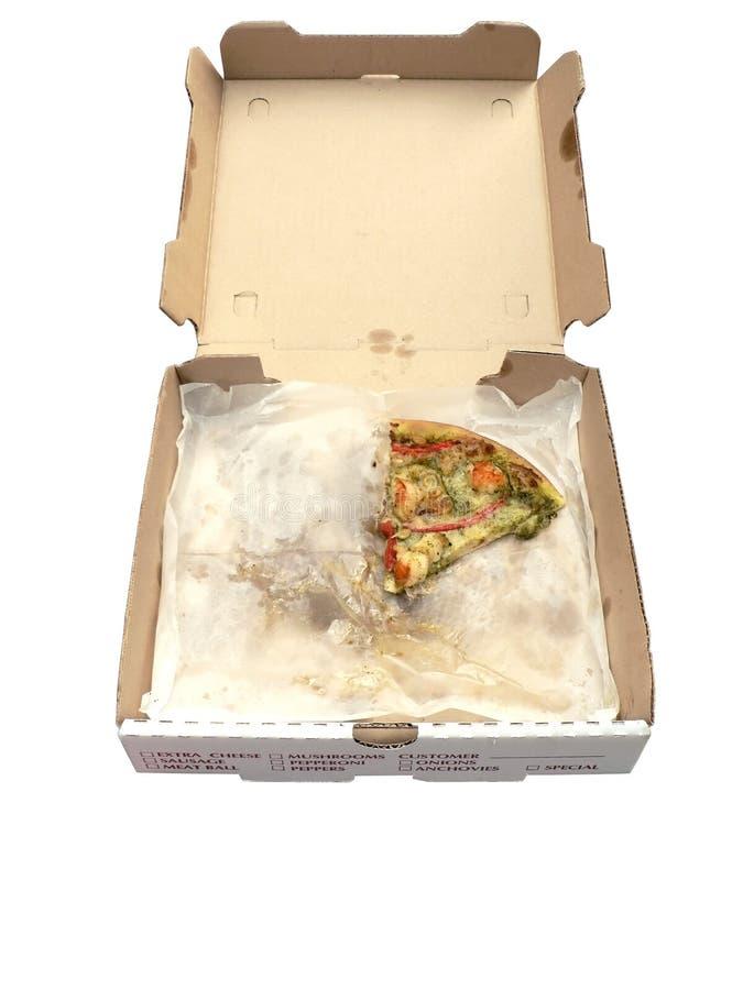 öppen pizza för ask royaltyfria foton