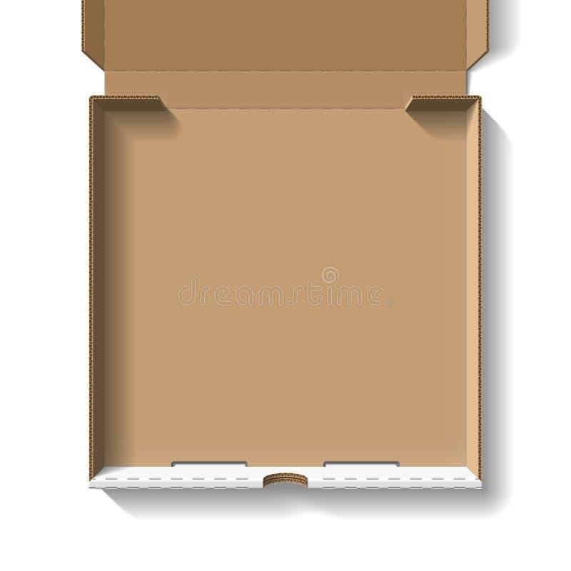 öppen pizza för ask vektor illustrationer