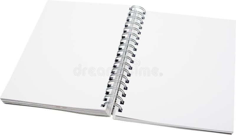 öppen spiral för anteckningsbok royaltyfria foton