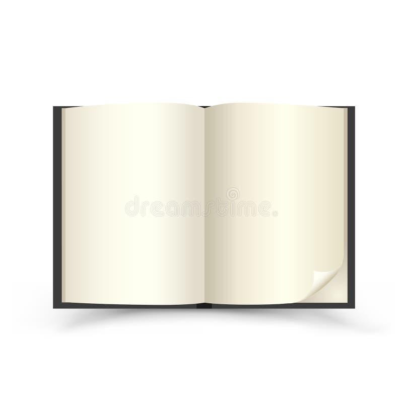 öppen svart bok royaltyfri illustrationer