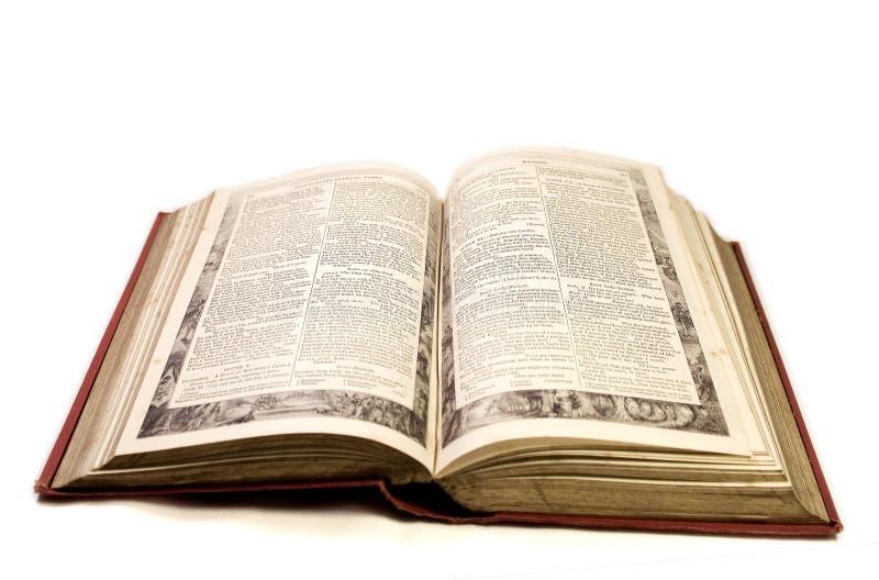 öppen tappning för bok royaltyfri bild