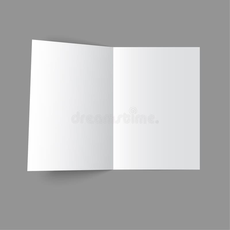 öppen tidskrift royaltyfri illustrationer