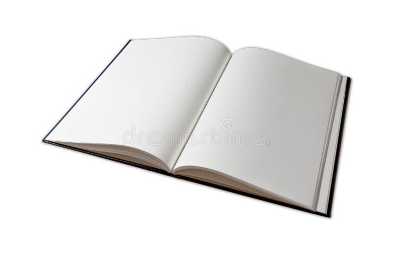 öppen tom anteckningsbok royaltyfri bild