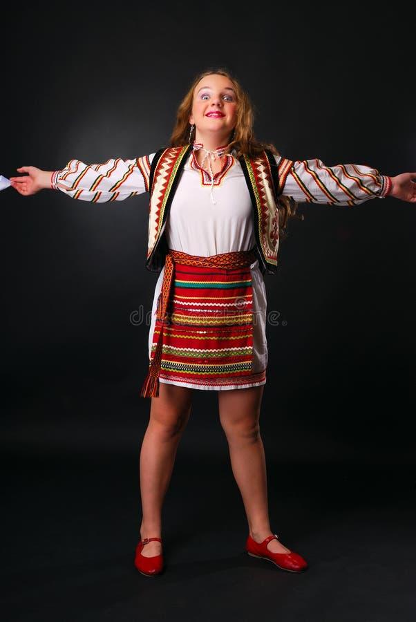öppen tonårs- ukrainare för armflicka royaltyfri foto