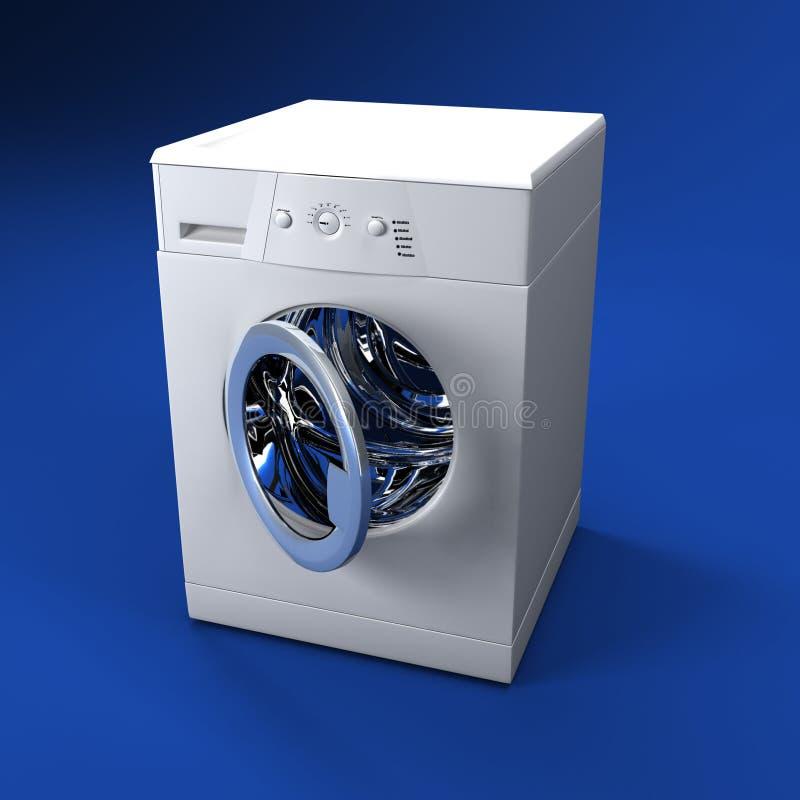 öppen tvätt för dörrmaskin royaltyfri illustrationer