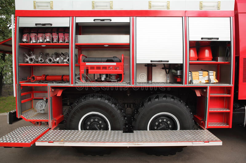 öppen utrustad brand för hanar motor arkivfoton