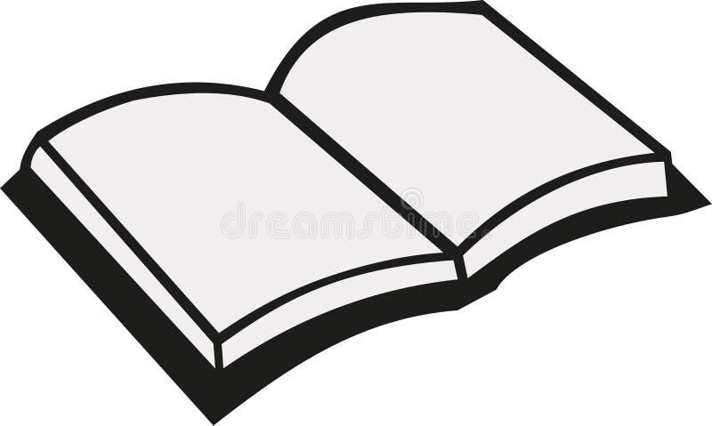 öppen vektor för bok royaltyfri illustrationer
