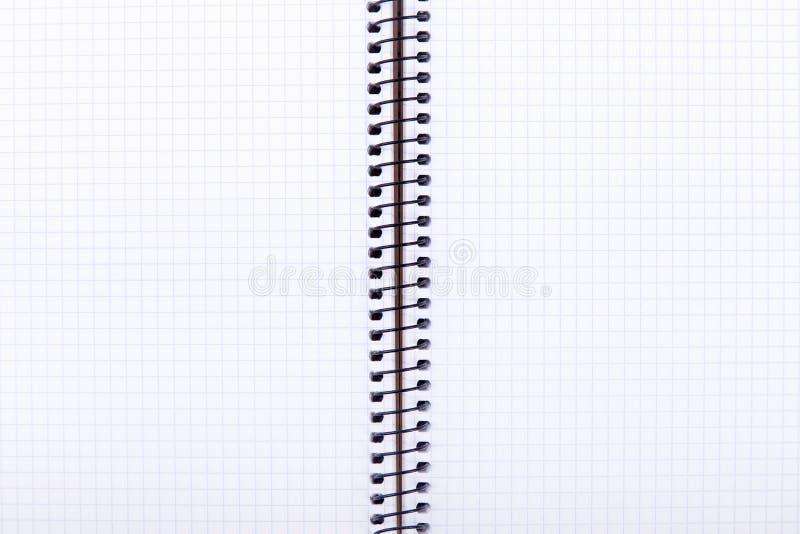 öppet övre för tät anteckningsbok arkivbilder