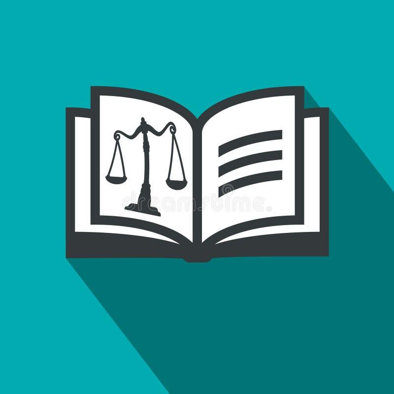 Öppet boksymbol för lag med rättvisa Scales royaltyfri illustrationer