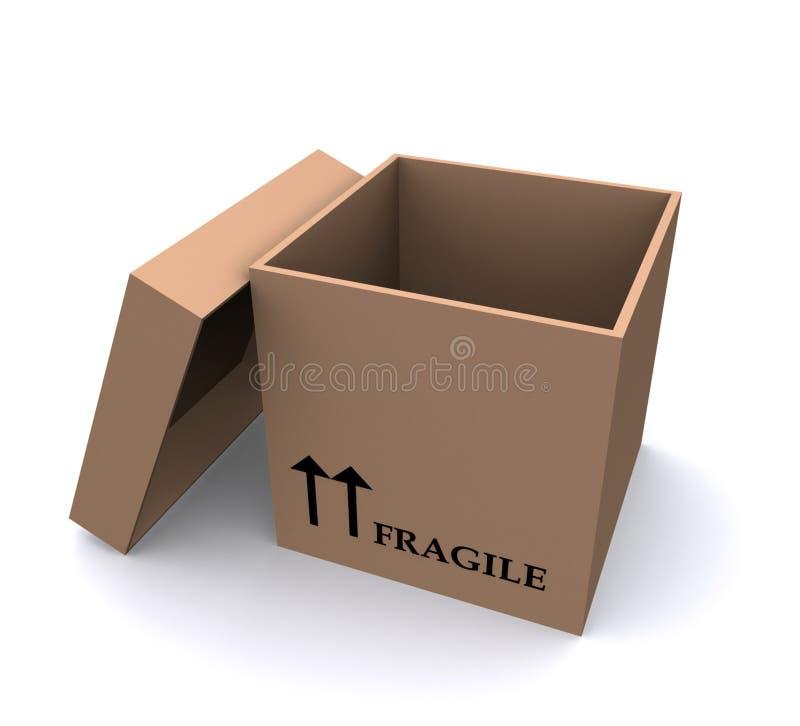 öppet emballage för ask stock illustrationer