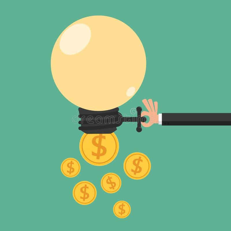 Öppet idéutbyte för affärsman till pengar Begrepp för passiv inkomst royaltyfri illustrationer