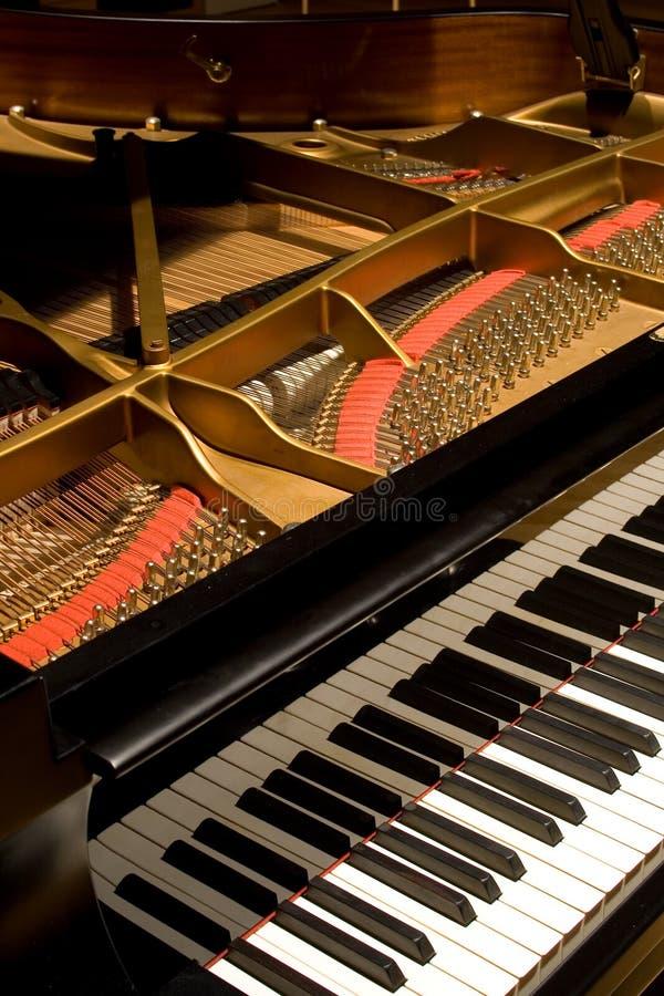 öppet piano för räkningstusen dollar royaltyfri foto