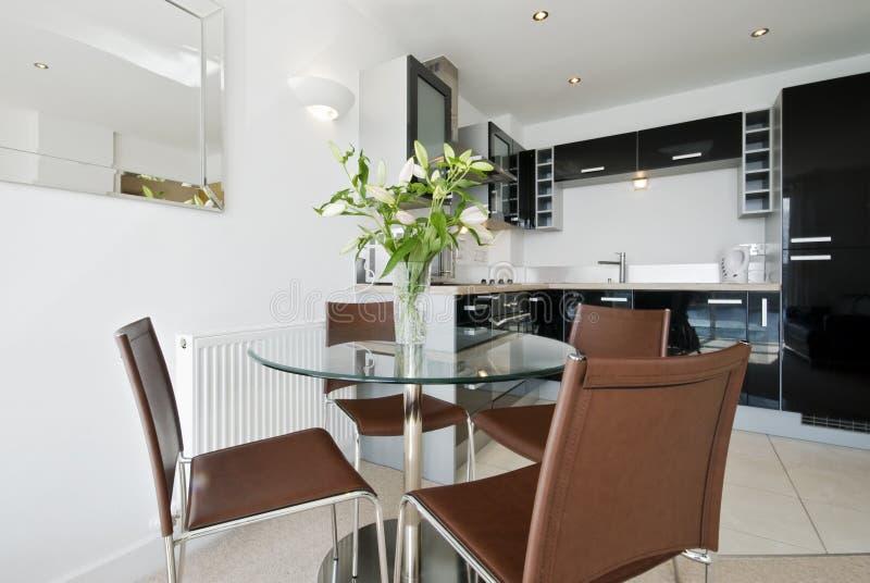 öppet plan för kök royaltyfria bilder