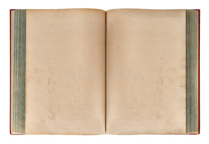 Öppna åldras pappers- textur för den gamla boken arkivbild