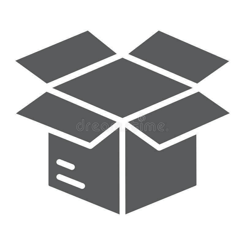Öppna askskårasymbolen, e-komrets och marknadsföringen stock illustrationer