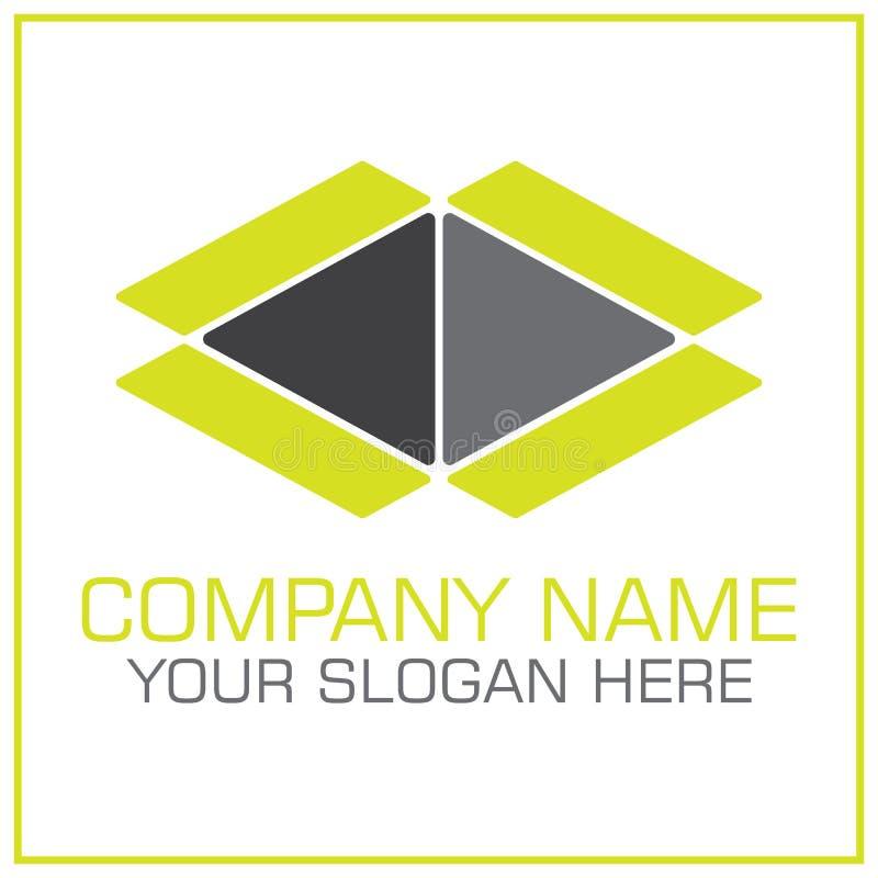 Öppna askvektorn Logo For Moving/trans.företaget royaltyfri illustrationer