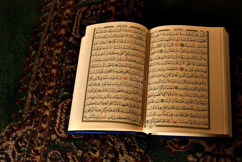 Öppna boken i arabisk handstil royaltyfria bilder