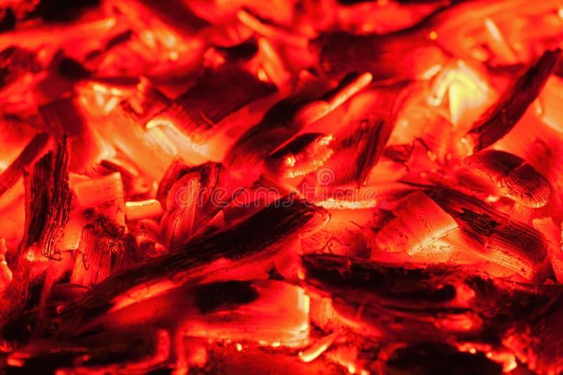 Öppna brand i spis arkivbild