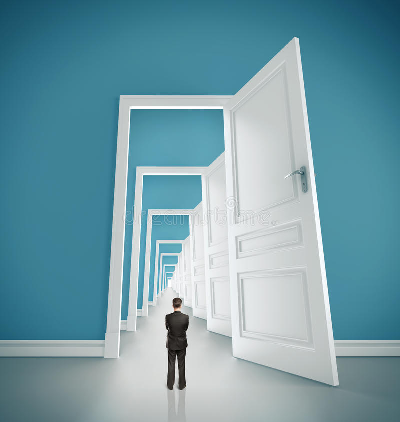 Öppna dörrar arkivfoton