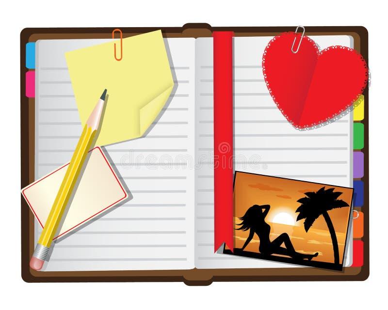 Öppna dagligen stock illustrationer