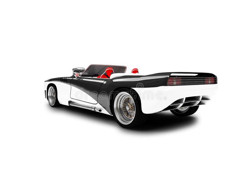 Öppna den övre sportbilen stock illustrationer