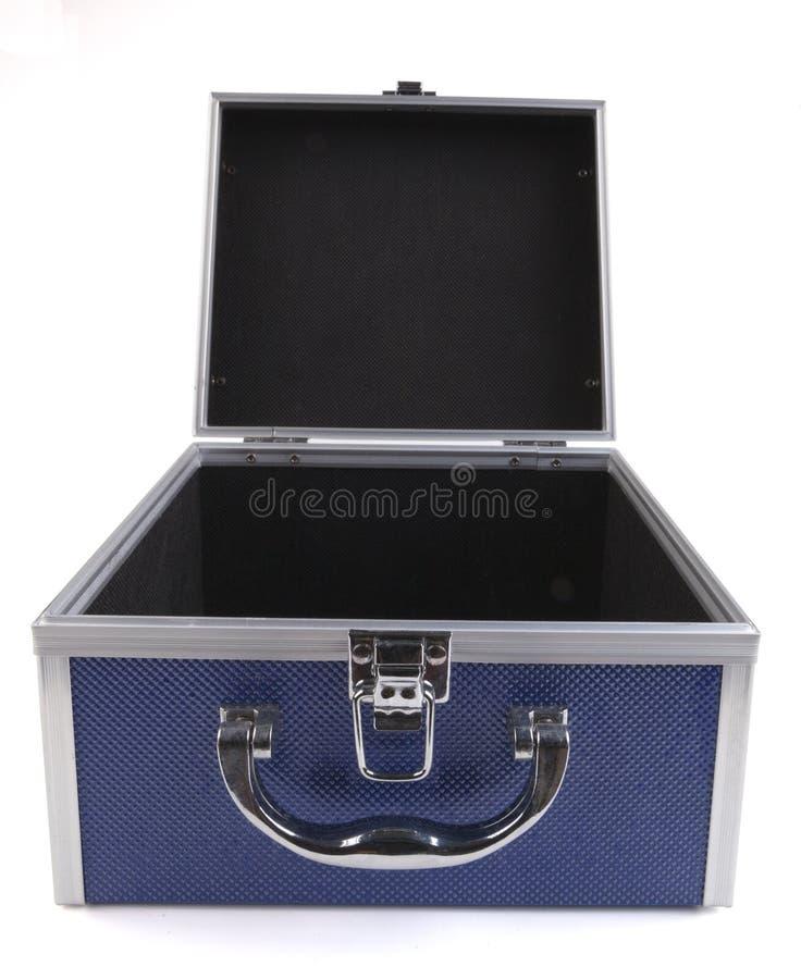 Öppna den blåa asken royaltyfria foton