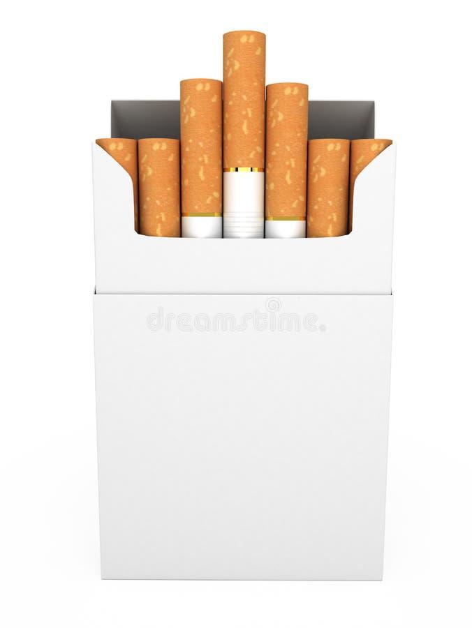 Öppna den fulla packen av isolerade cigaretter vektor illustrationer