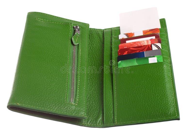 Download Öppna Den Gröna Läderplånboken Arkivfoto - Bild av isolerat, green: 27280904