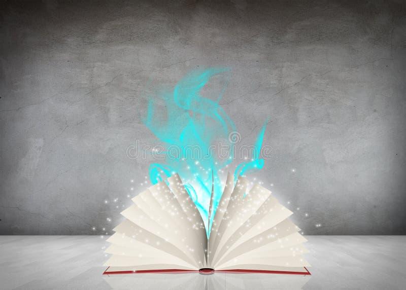 Öppna den mystiska boken fotografering för bildbyråer