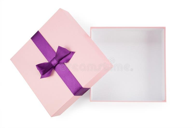 Öppna den rosa asken med bästa sikt för pilbåge royaltyfri foto